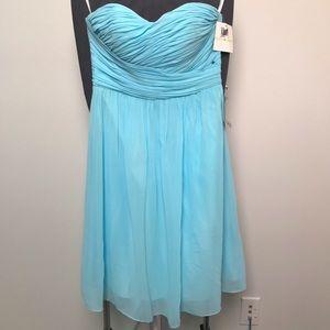 Baby Blue Strapless Empire Waist Dress 4 - 833
